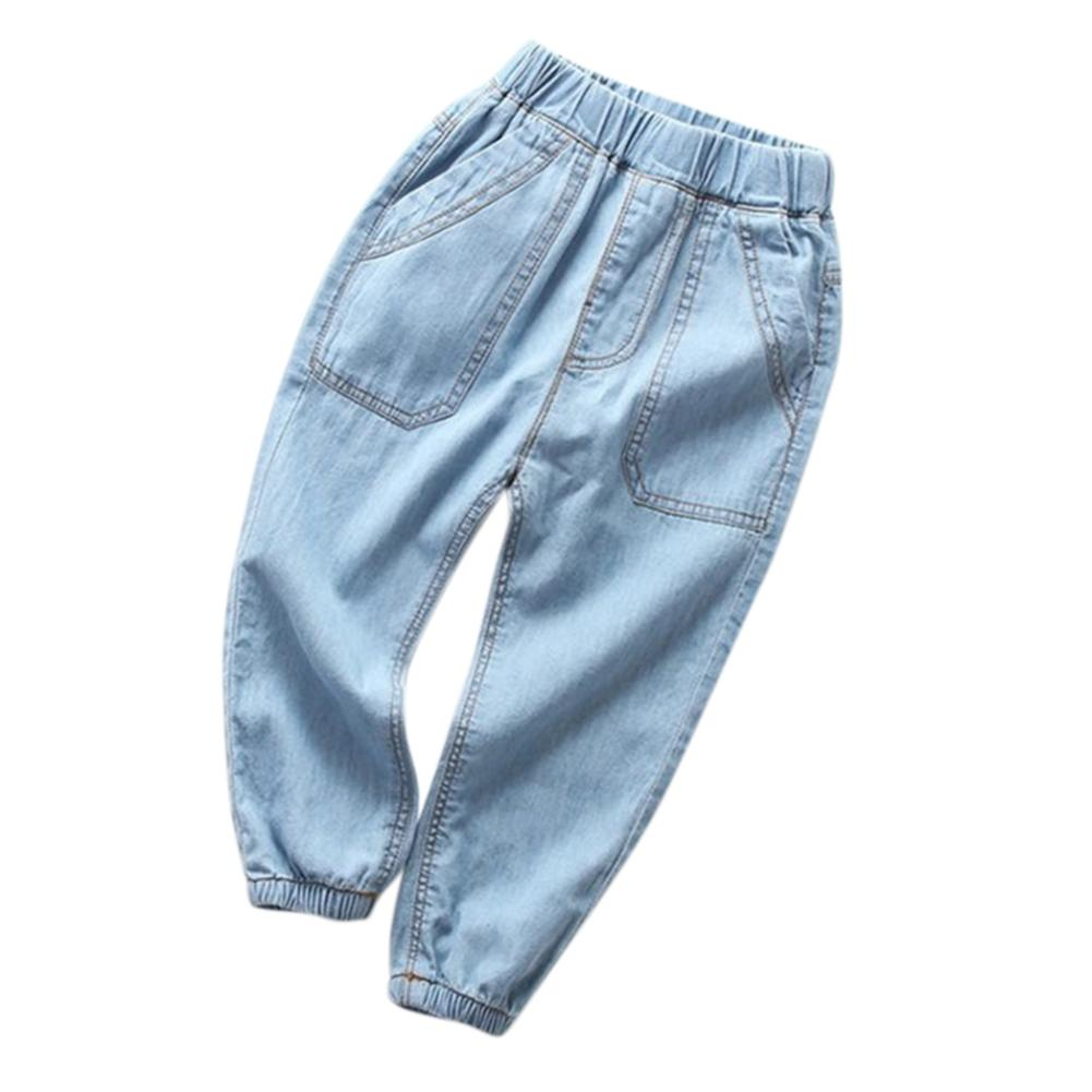 Bayi Gadis-gadis Anak Laki-laki Anti Nyamuk Celana Panjang Olahraga Jeans untuk 2