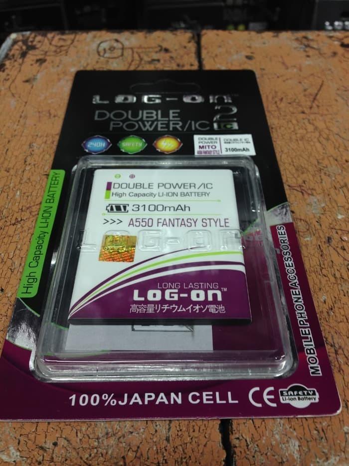Baterai Battery Batre Mito A550/Fantasy Style Original Log On double power - 2
