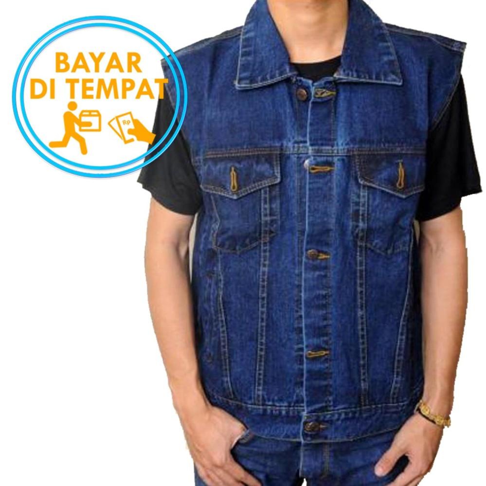 Spesifikasi Vest Rompi Jeans Premium Classic Blue Best Seller Dan Harga