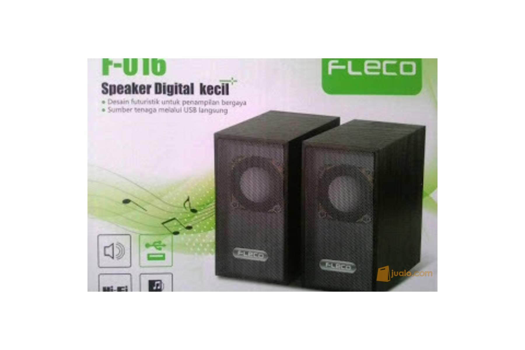 SPEAKER SPEKER FLECO F 016 PORTABLE MODEL KAYU