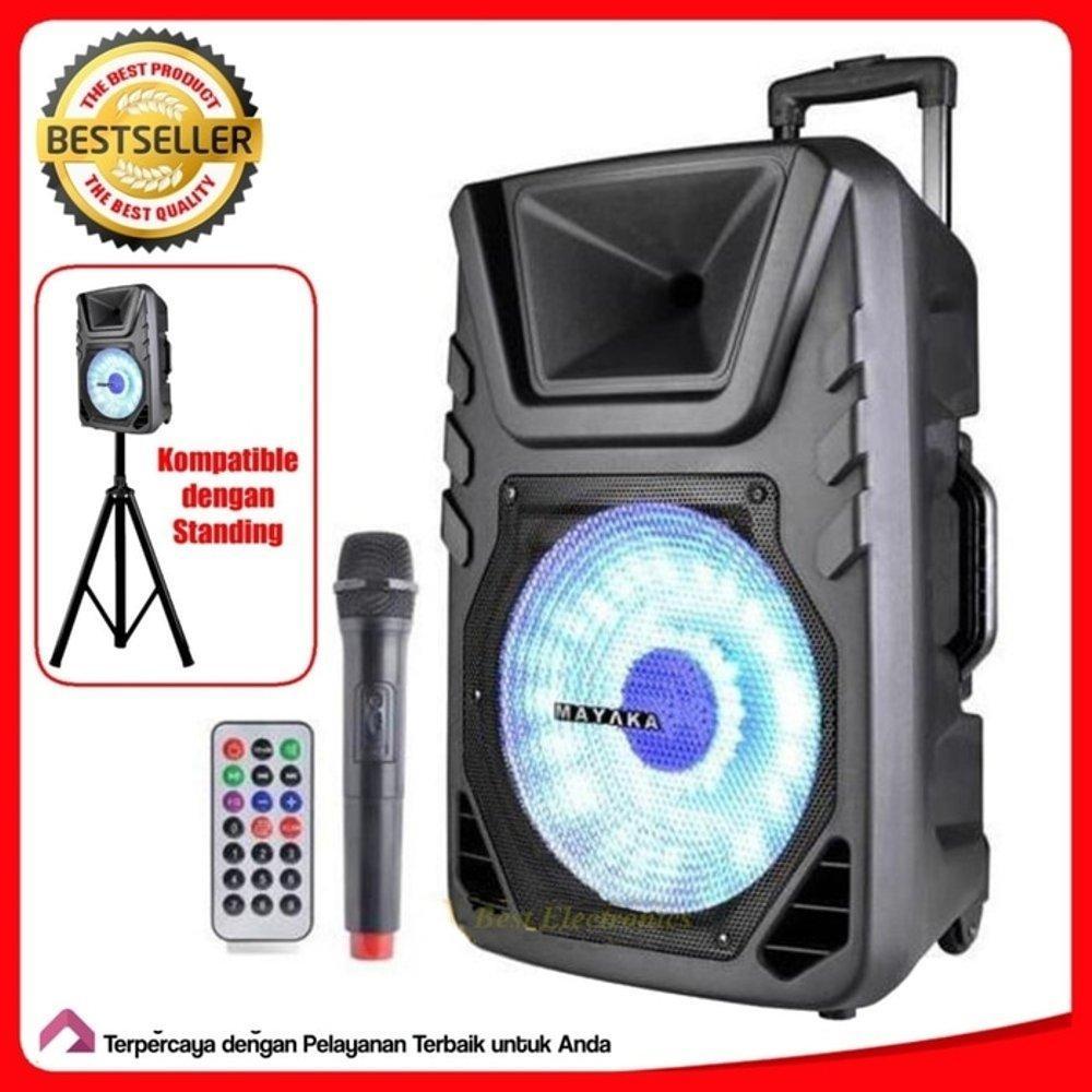 Mayaka Speaker Meeting SPKT-015 AD Multifungsi Speaker 15Inci Ukuran JUMBO Free 2 buah mic