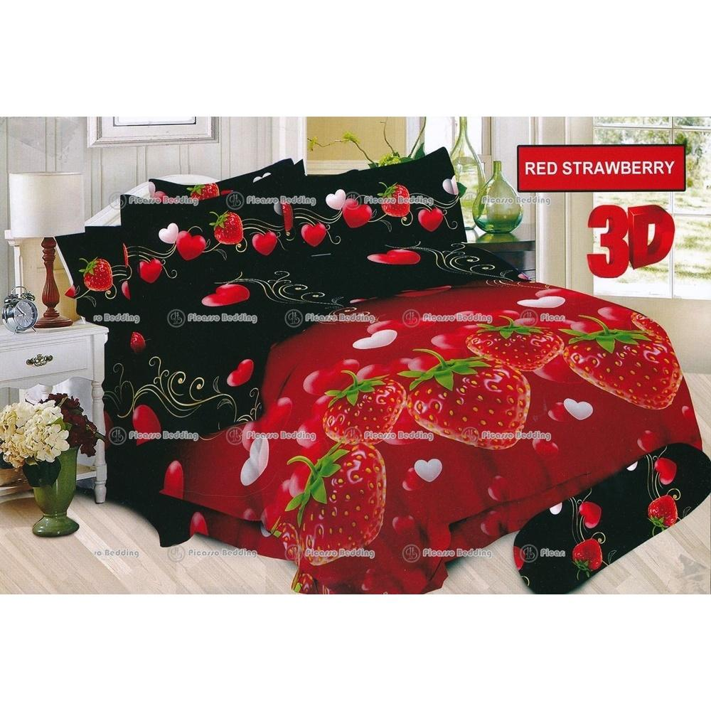 Termurah Sprei Bonita Tipe Red Strawberry King Size 180 Promo Beli 1 Gratis 1