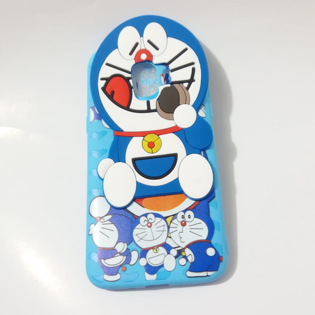 Delkin Boneka Kartun Karakter Doraemon Softcase Casing for Samsung Galaxy J2 Pro [Silicon/3D