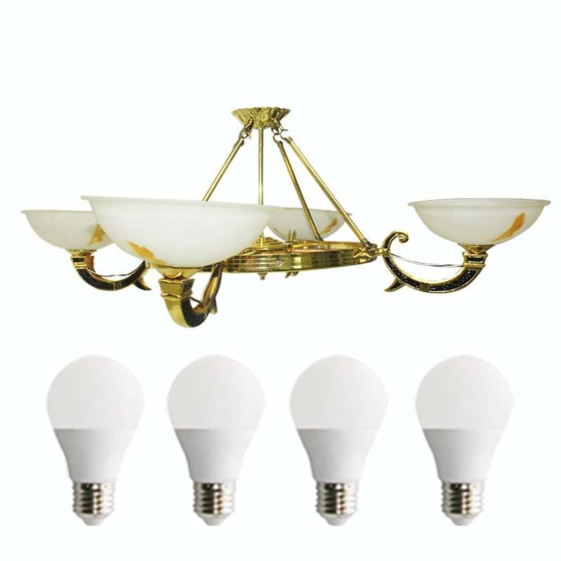 EELIC LHG-29 Lampu Hias + 4 PCS LED 5 WATT Gantung Kap Lampu Model Mangkok Berbentuk Mangkok Cantik