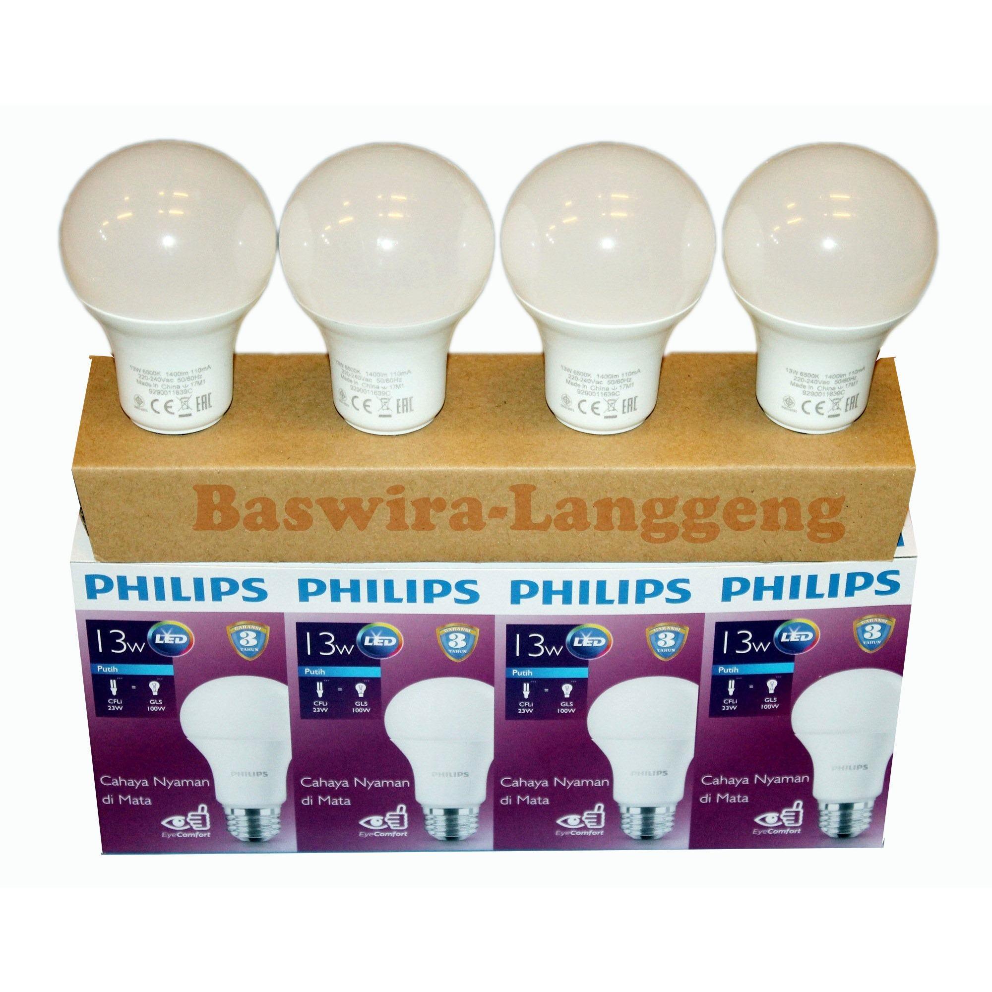Paket Lampu Led Philips 13w 13watt Promo Unicef Beli 3 Gratis 1 Bulb 13 Watt 6500k Gambar Produk Rinci Terkini