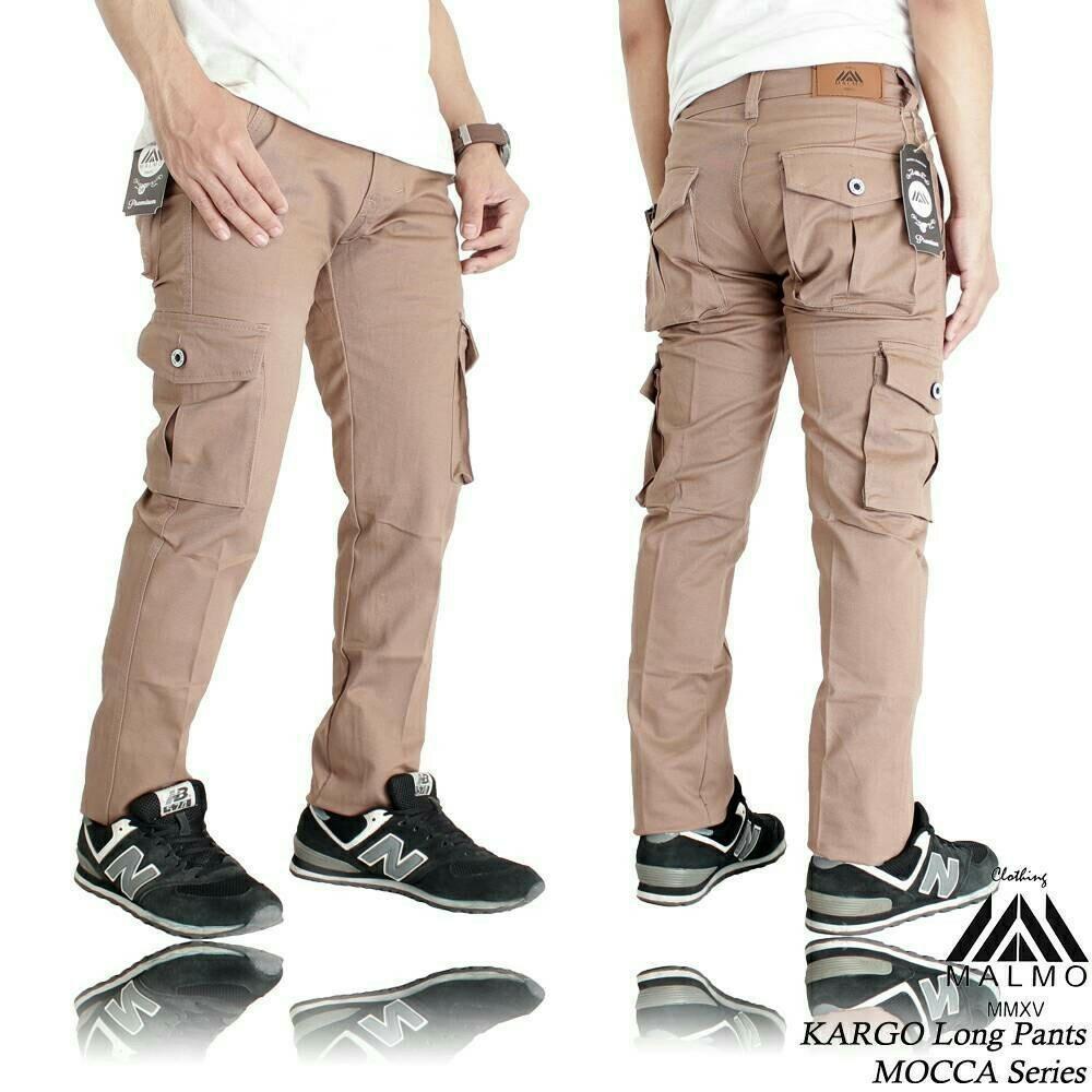 Spesifikasi Celana Cargo Panjang Slimfit Mocca Bagus