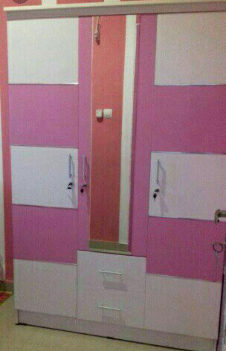 Fitur Lemari Pakaian 3 Pintu Minimalis Dan Harga Terbaru Info Ben Furniture All White Laci Kaca 4