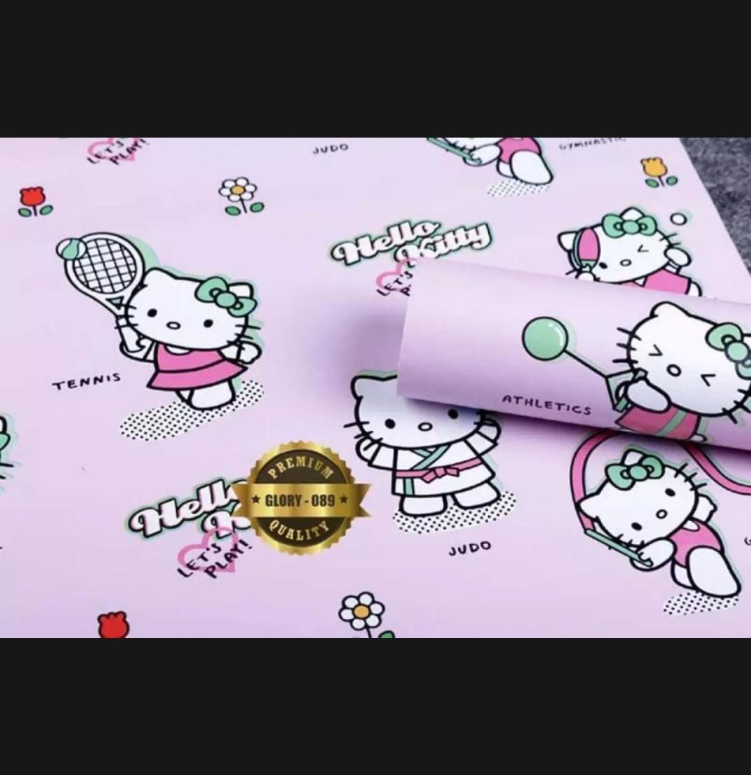 Review Wallpaper Sticker Karakter Hello Kitty 45cm X 10m Cdr Dan Stiker Dinding Motif Premium Quality Size Bola