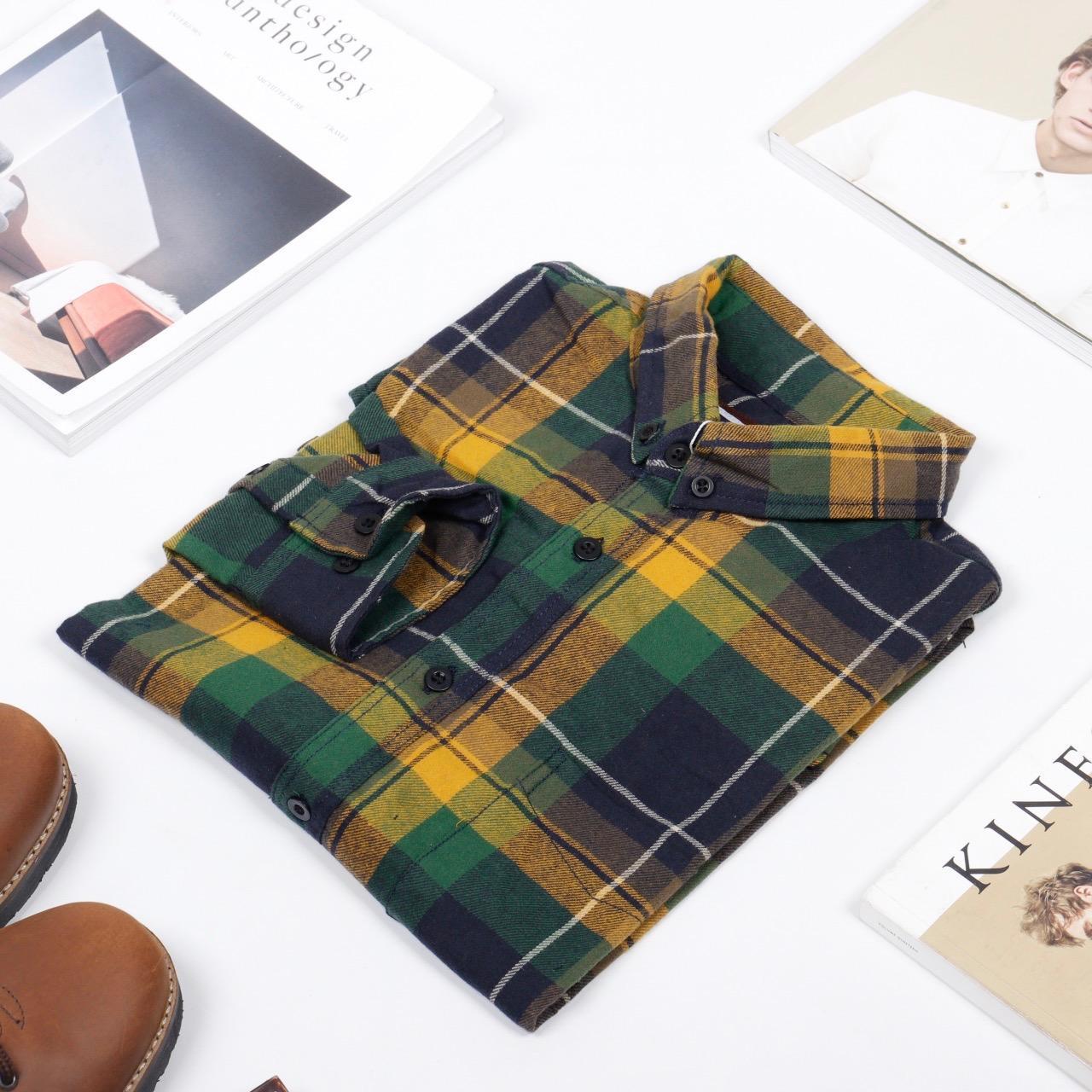 Kemeja Flanel Flannel Pria Navy Green Panjang Daftar Harga Terbaru Model Slimfit Modern Motif Kotak Monte Putih Xl Broodis Tazmania Best Seller 2
