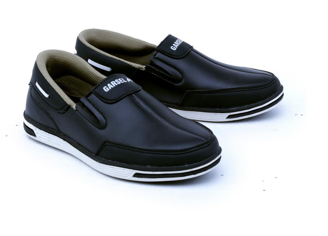 Garsel Sepatu Anak Laki Laki - bahan Sintetis - sol Tpr murah dan berkualitas (Hitam
