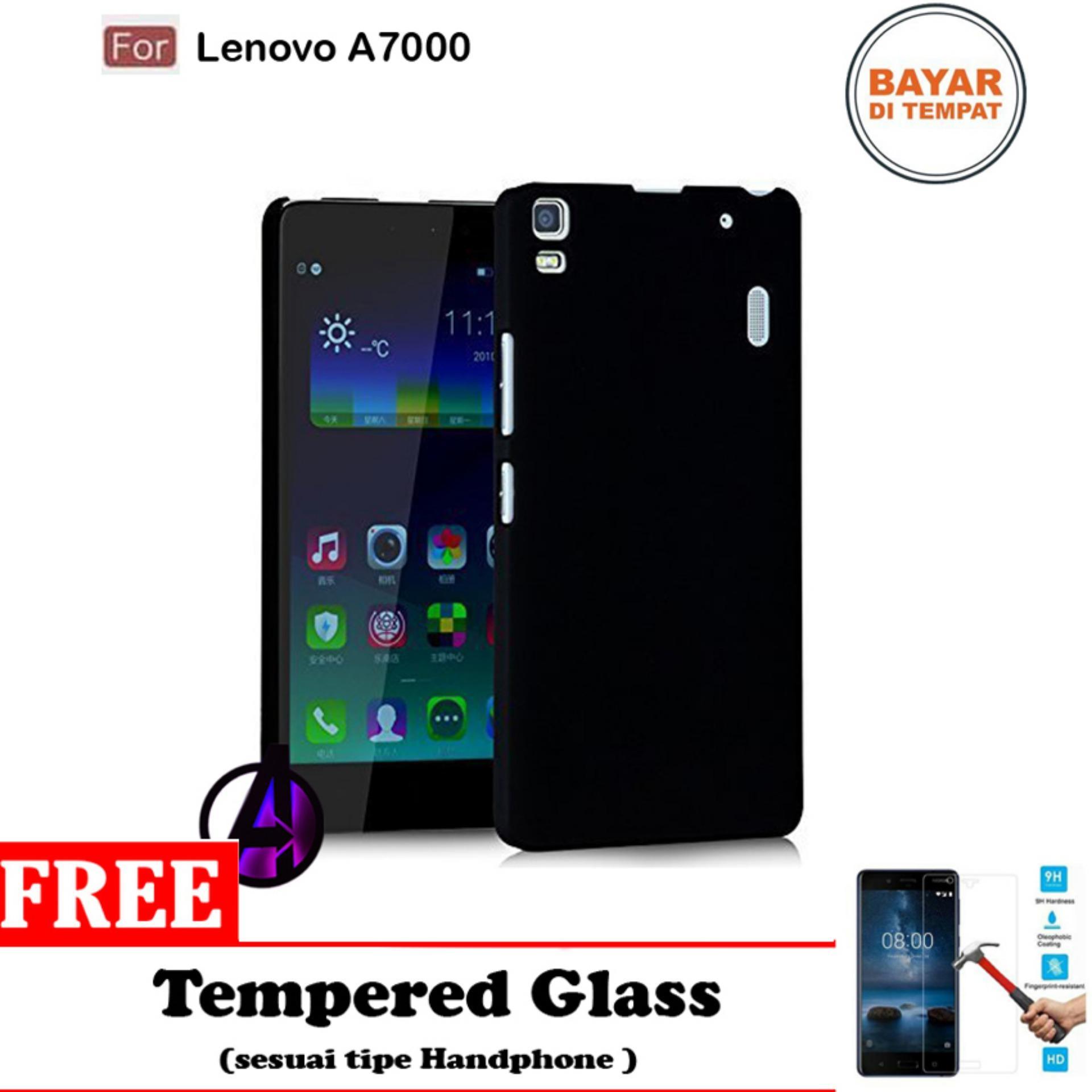 Case Matte Black Soft Slim Casing Handphone Lenovo A7000 Free Tempered Glass