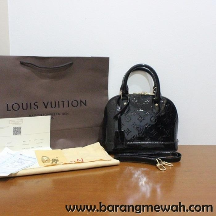 TAS LOUIS VUITTON ALMA VERNISH MINI BLACK