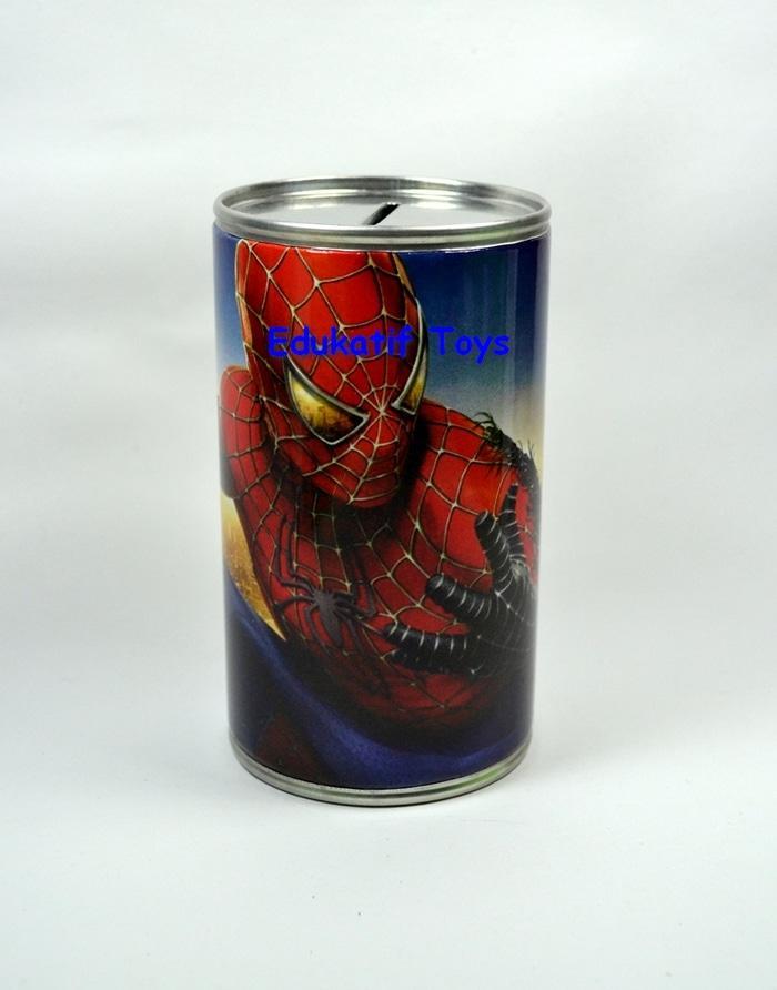 Celengan Kaleng Murah Karakter Spiderman