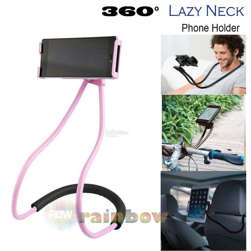 Rainbow Lazy Neck Phone Holder Tongsis Leher / Neck Lazypod Monopod Leher Kekinian Universal Flexible Lazy