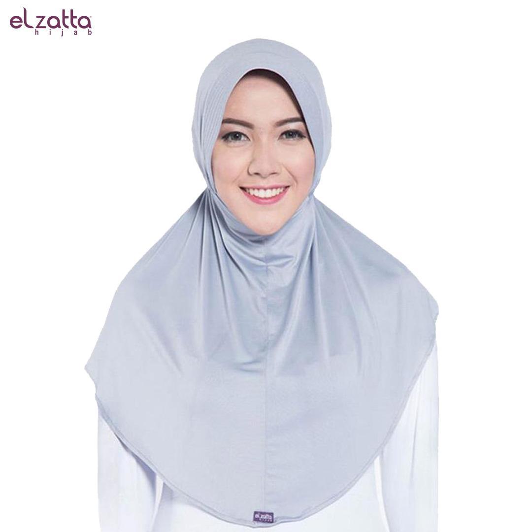 Elzatta Hijab Instan Warna Abu E001