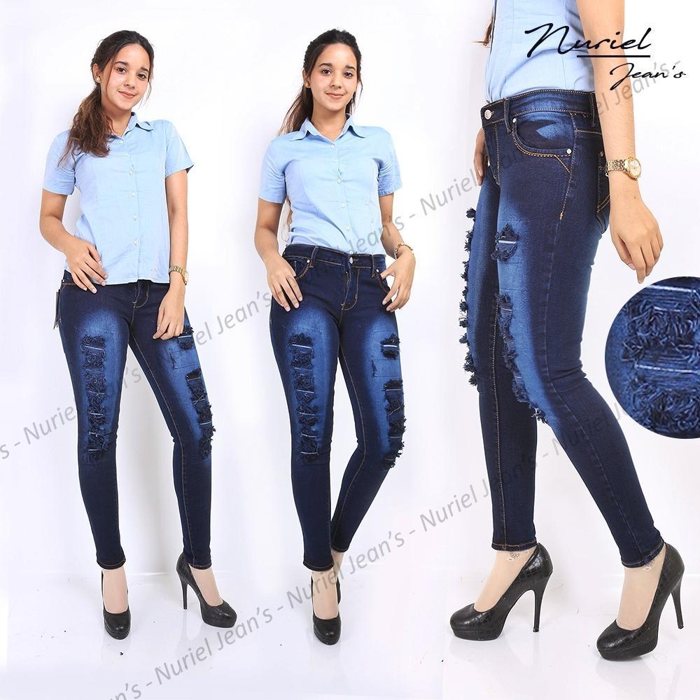 Beli Zfj Celana Jeans Wanita Terbaru High Quality Skinny Hipster Dark Navy Sobek 31 34 Dki Jakarta