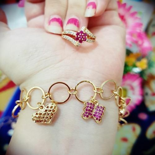 Harga Gelang Cincin Kupu2 Bunga Xuping Gold Banten