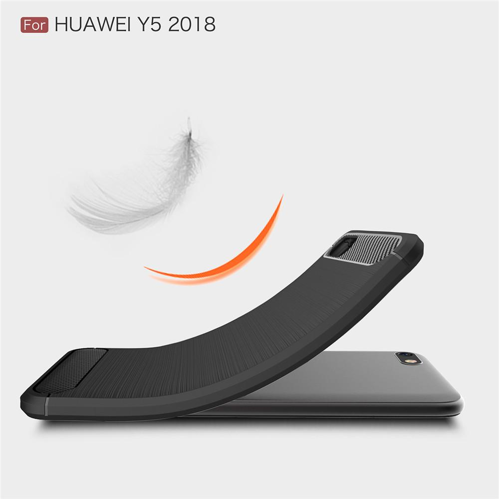 ... 2 Carbon Armor TPU Soft Case Casing Huawei Y5 Prime 2018 - 3