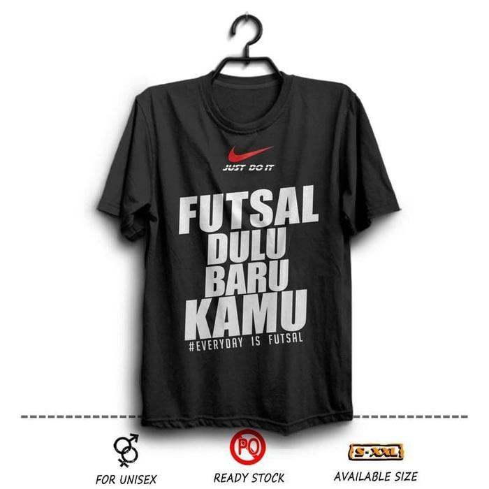 Kaos Nike Futsal Dulu Baru Kamu ( Distro Terbaru Sport ) Hitam Wfcloth