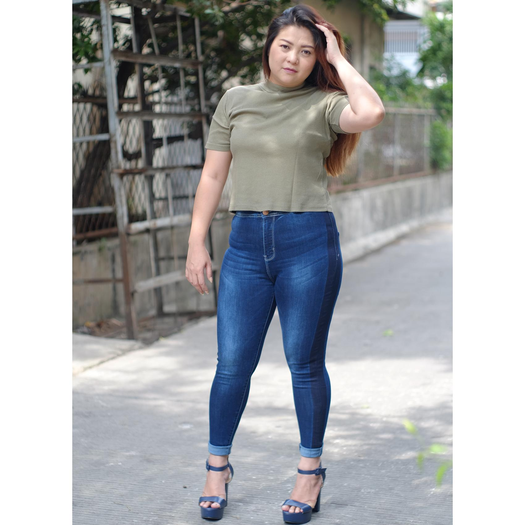 Rumah Jeans / Celana Jeans Jumbo Wanita / Highwaist Jumbo 8481 / Jeans Highwaist Cewek