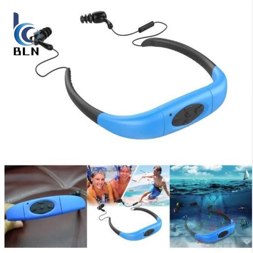 Jual Beli 【Bln Tech】Hot Sale Ipx8 Waterproof Sports Bluetooth Headphones For Swimming Headphones Wireless Headphone Neckband Swimming Earphone Indonesia