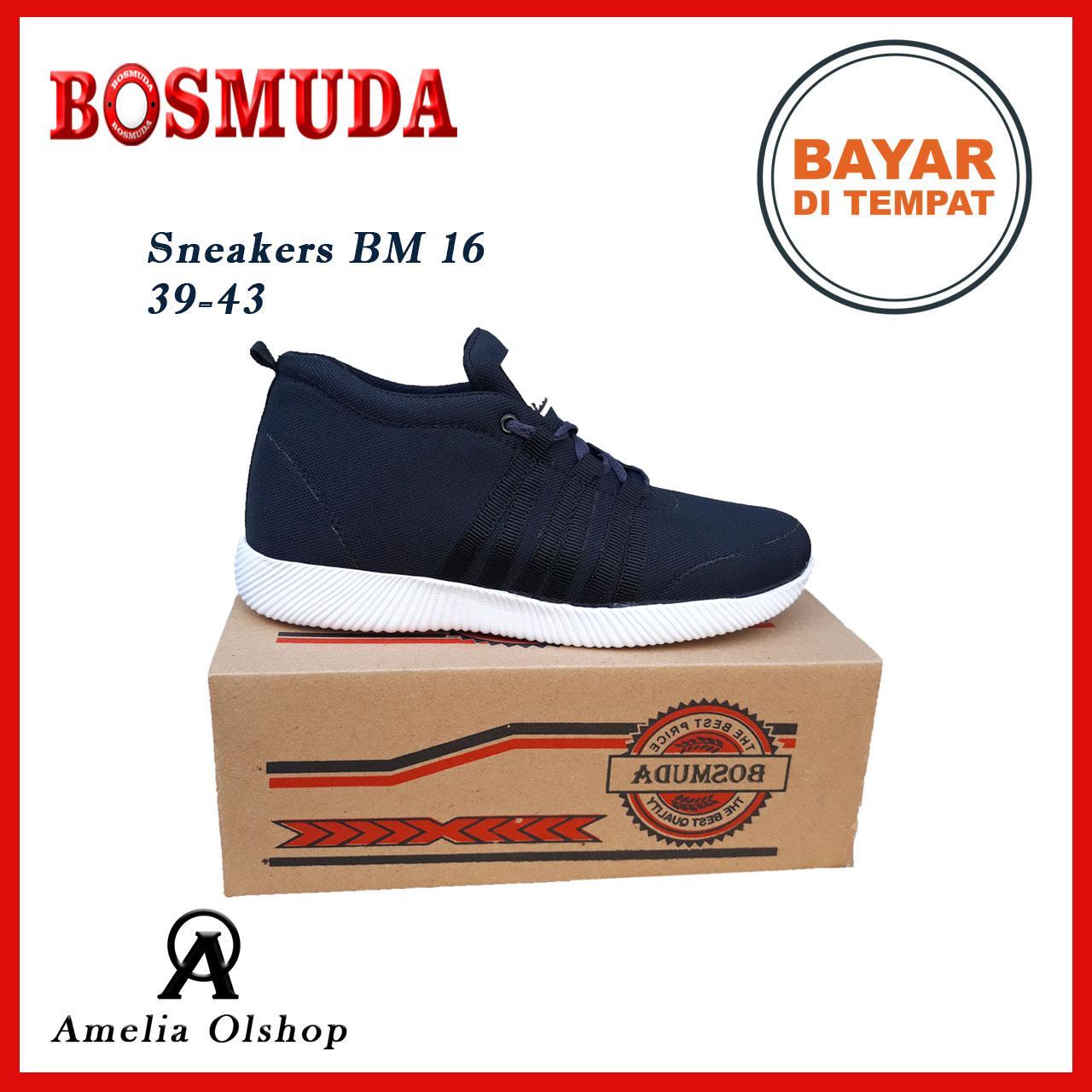 Amelia Olshop - Sepatu Sneakers BM 16 39-43 / Sepatu BOSMUDA / Sepatu Pria