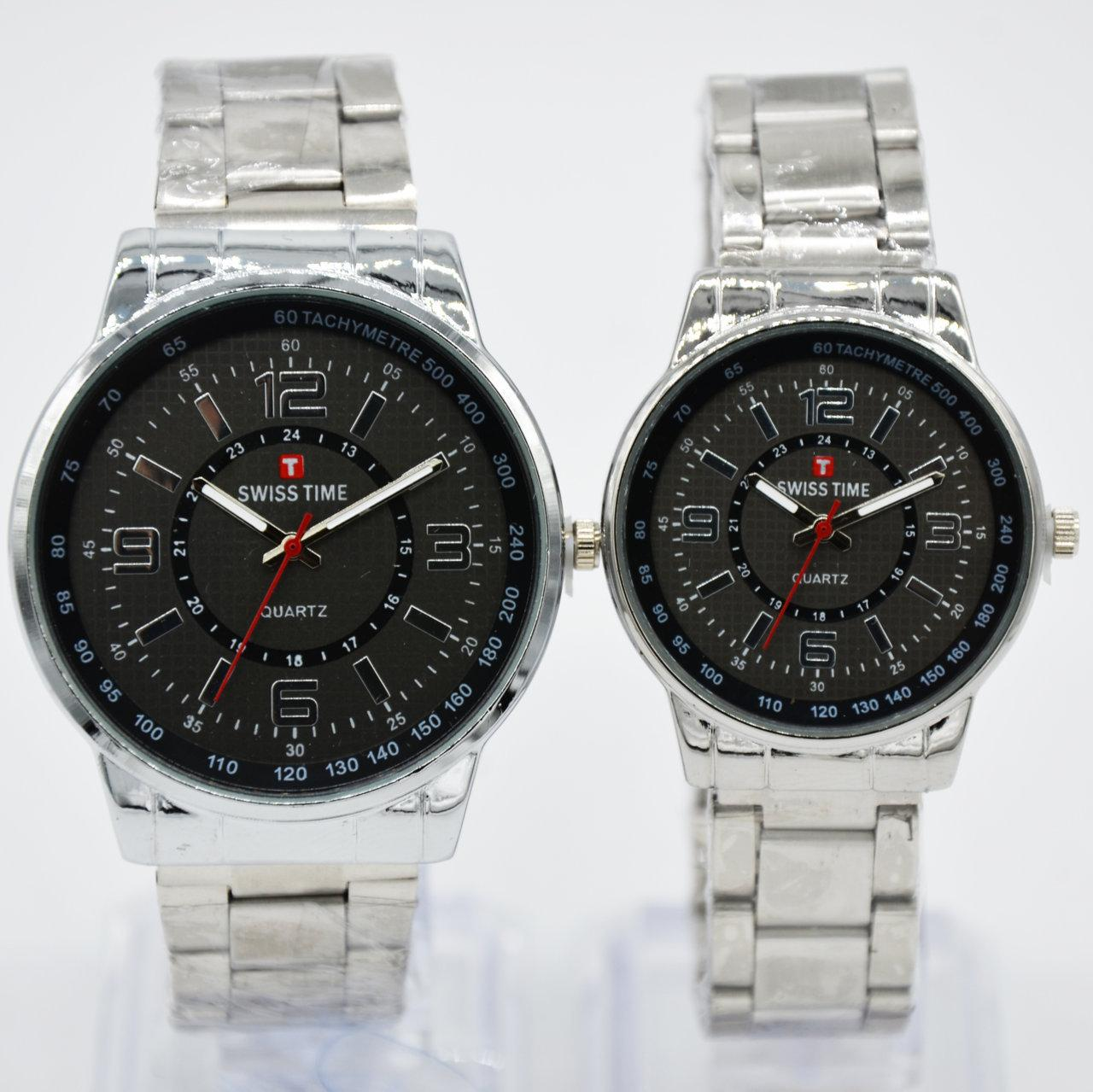 Swiss Army/Time Jam tangan Pria&Wanita (Couple) - rantai stainless S2217