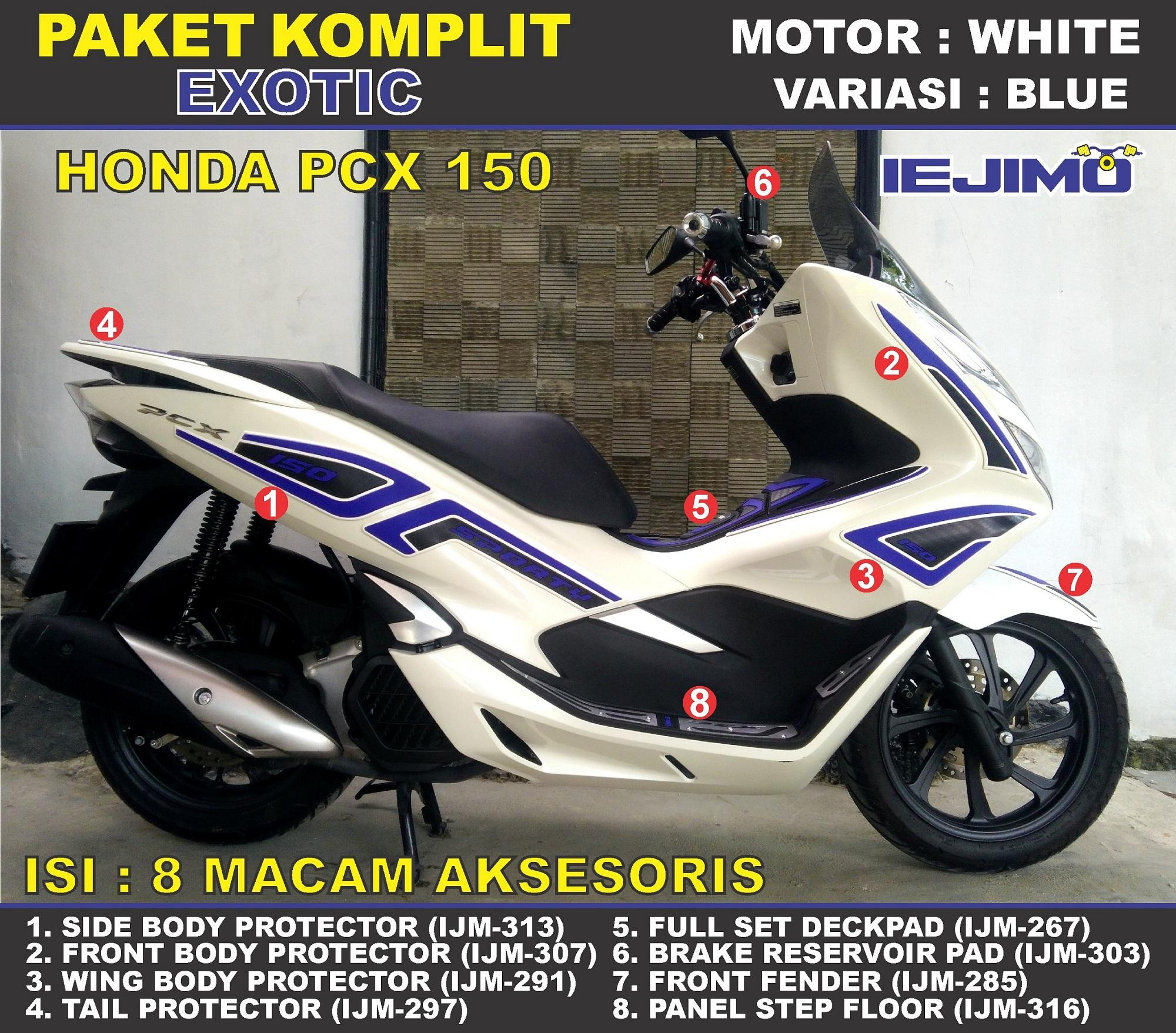 Fitur Paket Body Protector All New Honda Pcx 150 Aksesoris Honda Pcx