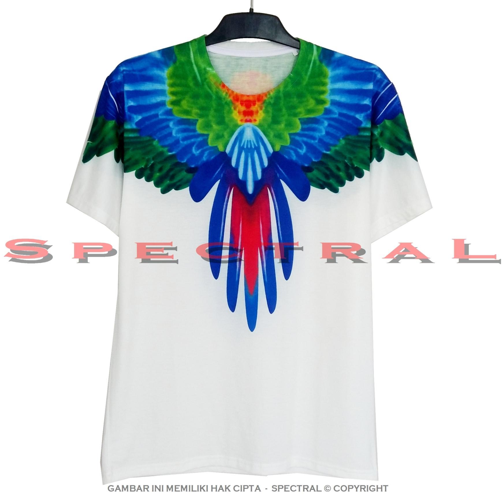 Spectral - SAYAP BIRU PRINTING 100% Soft Cotton Combed 30s Kaos Distro .