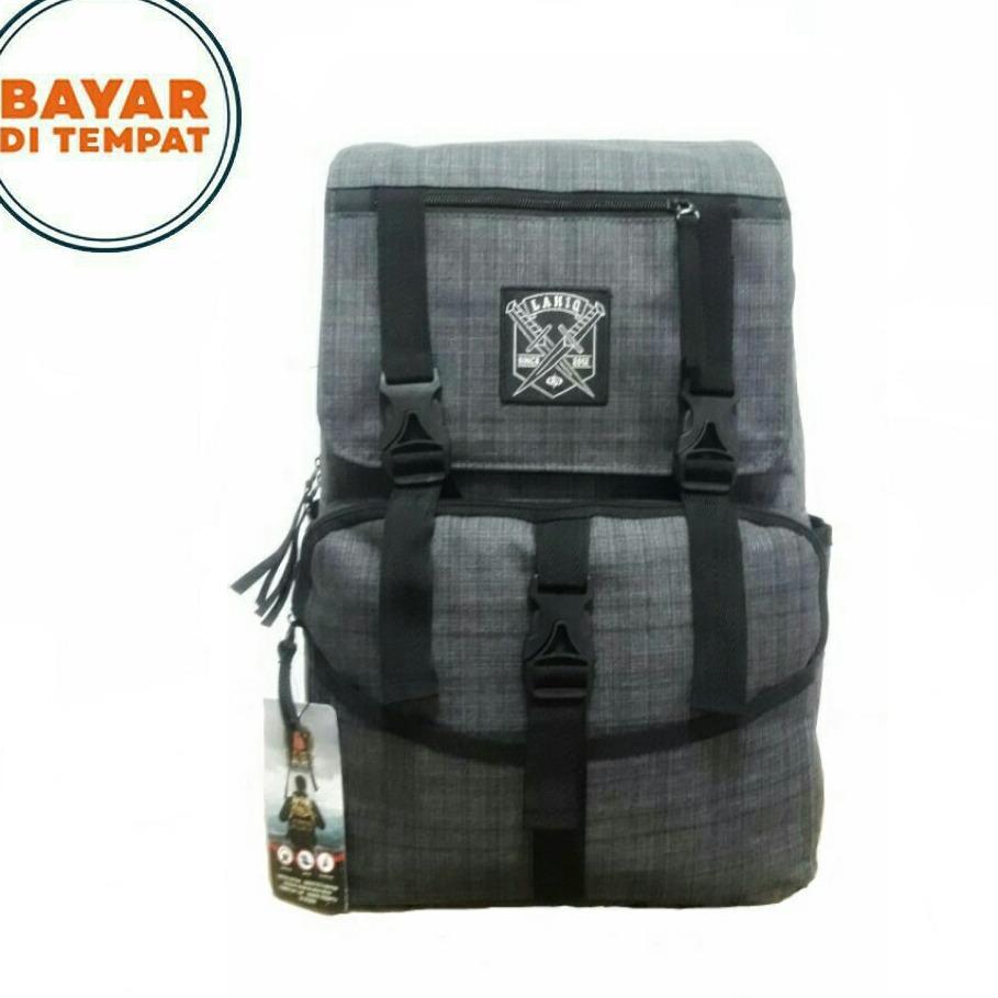 Toko Tas Ransel 17 Inchi Style Korea 681 8 17 Material Kanvas Grey Polo