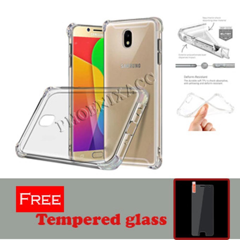 Anti Crack Anti Shock Softcase Samsung J2 Pro 2018 Free Tempered Glass