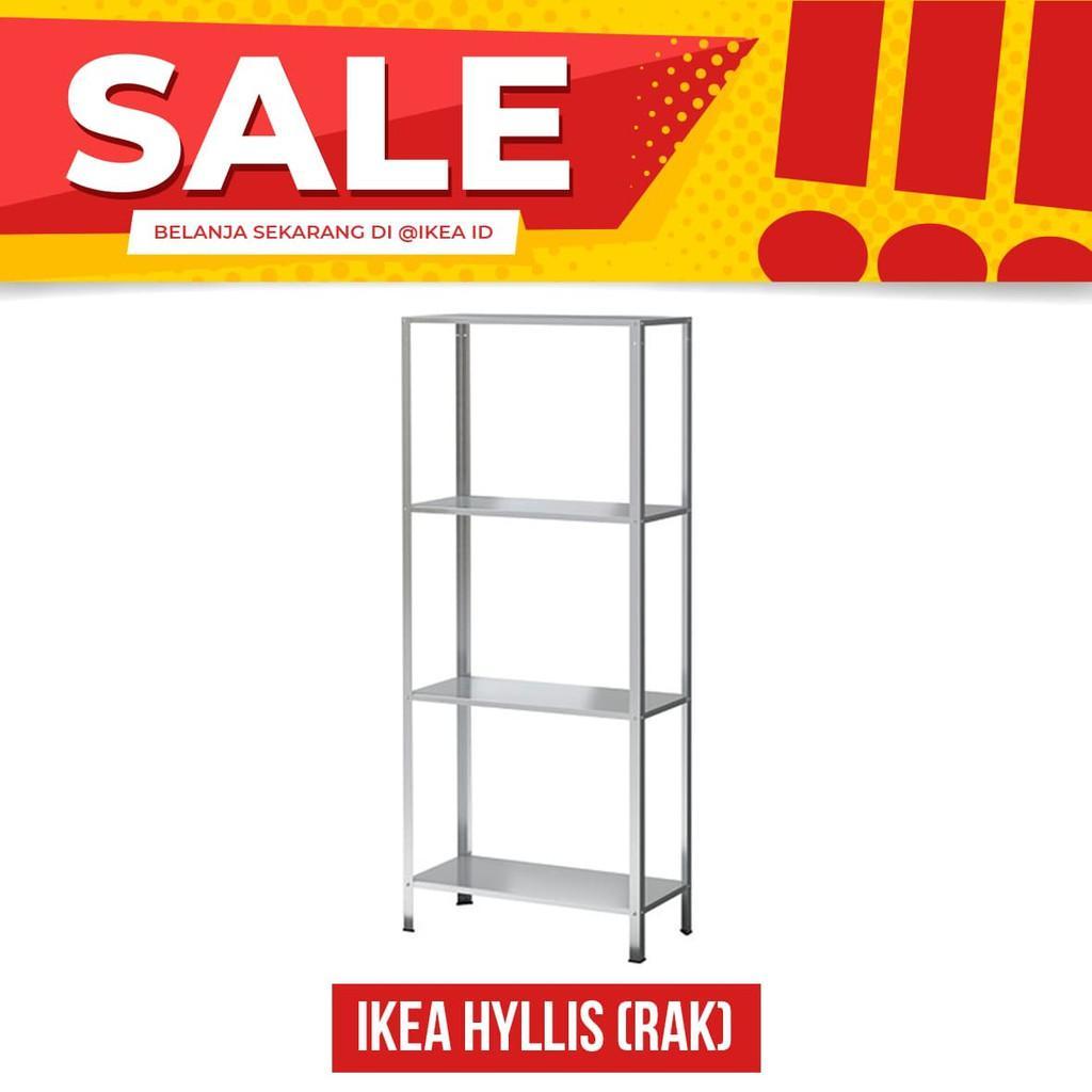 Cek Harga Baru Ikea Hyllis Rak Lemari Penyimpanan Dalam Luar Ruang Sepatu Kain 6 Baja Galvani New