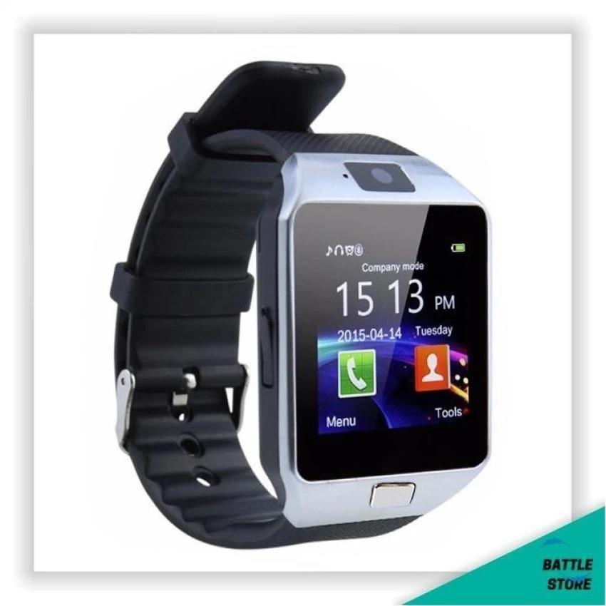 Smartwatch With Camera And Video / Jam Tangan Hp / Jam Ber Kamera / Jam Bisa Telp (Silver)
