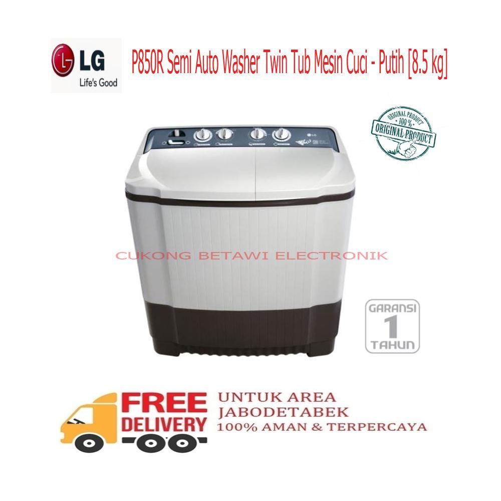 Detail Gambar LG P850R Semi Auto Washer Twin Tub Mesin Cuci - Putih 8.5 Kg-KHUSUS JABODETABEK Terbaru