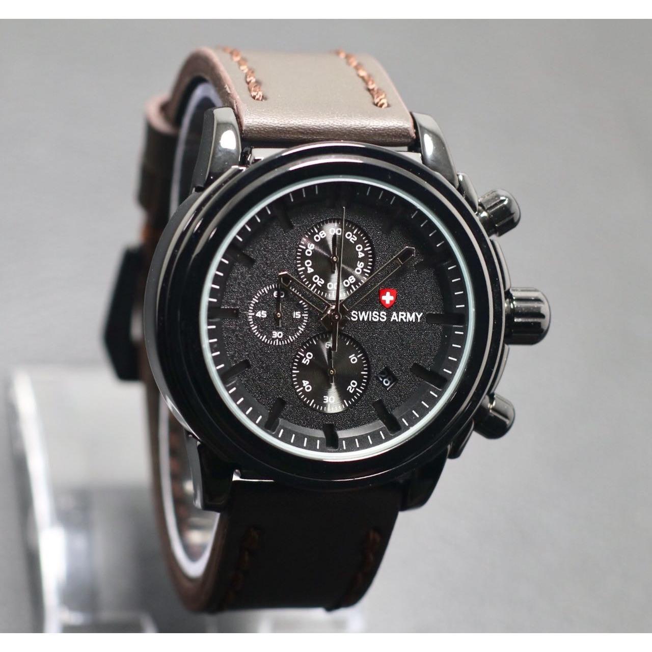 Jam tangan pria - Model Casual - SA 7739 BJ - SWISS ARMY - crono aktif
