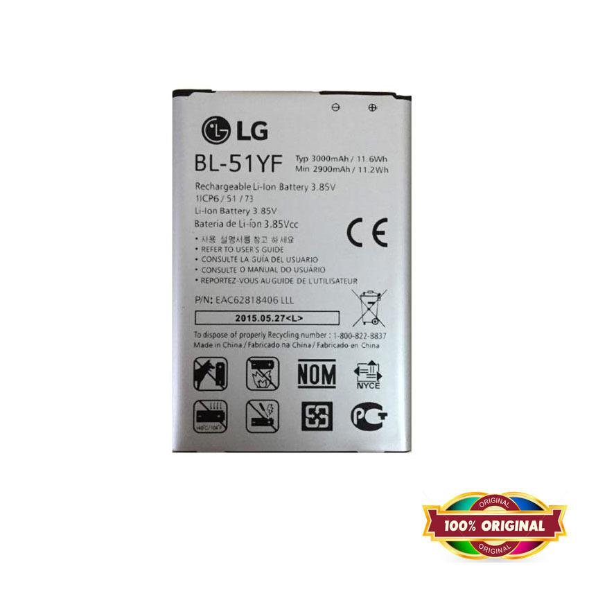 100% ORI - Battery for LG G4 / G4 Stylus - 3000mAh - Garansi 1 Bulan