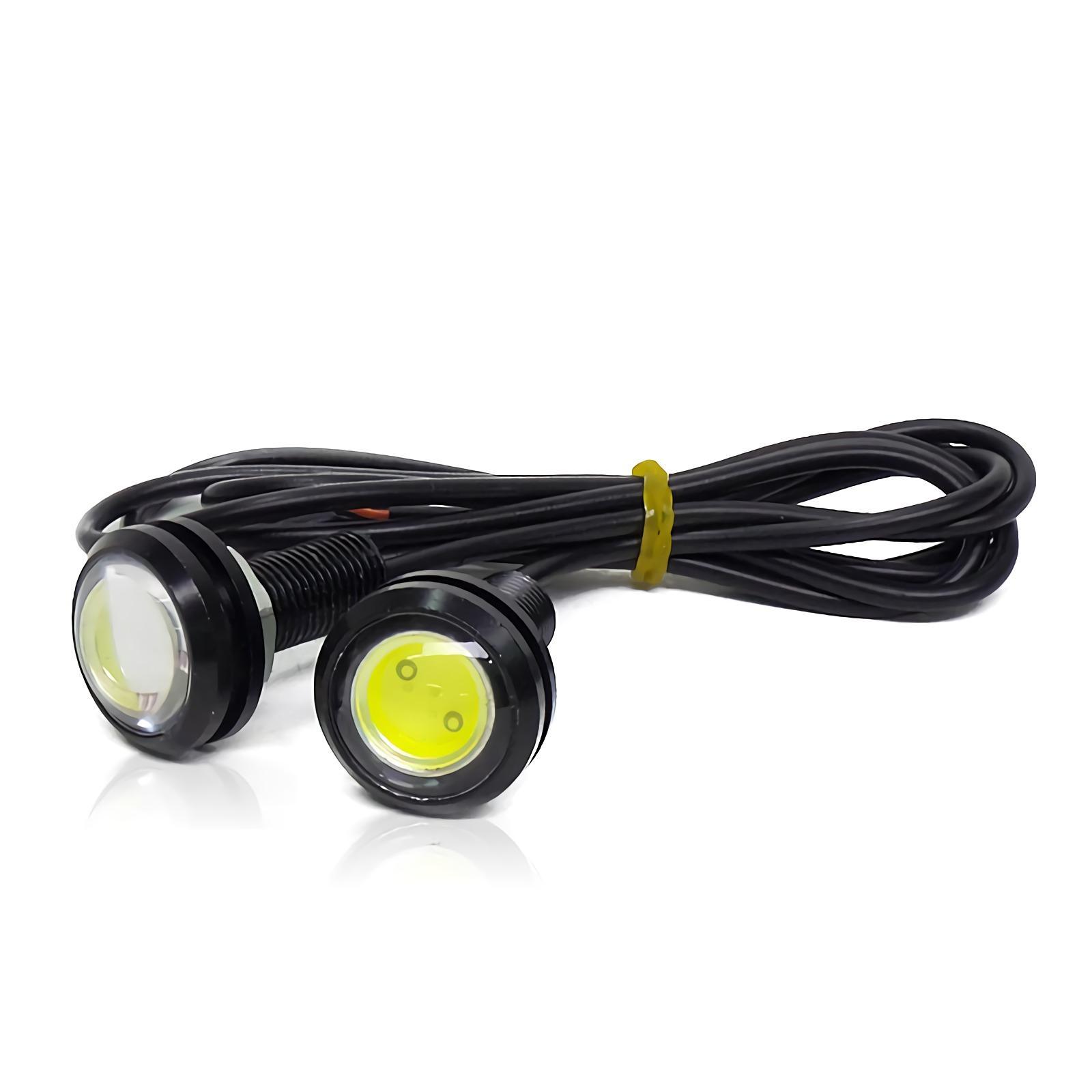 OTOMOBIL [22 MM][2 PCS] TE LAMPU LED MATA ELANG 12V Eagle Eyes Mobil Motor Putih
