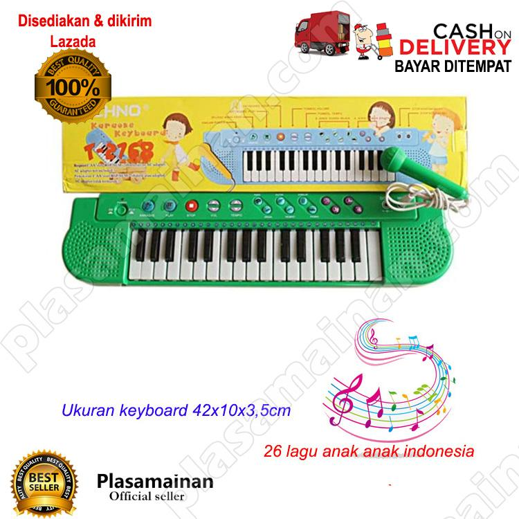 AA Toys Techno Karoke Keyboard T-2768 WARNA ACAK - Mainan Piano Karoke Lagu Indonesia / WARNA RANDOM - 3