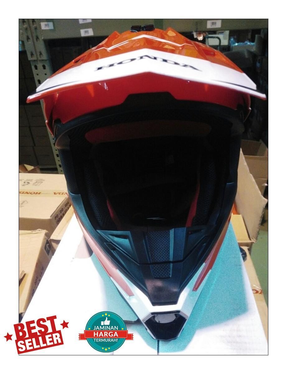 Fitur Helm Honda Crf Model Trail Spesial Edition Dan Harga Terbaru 150l 150 L Ori Bar Pad Bantalan Stang Detail Gambar