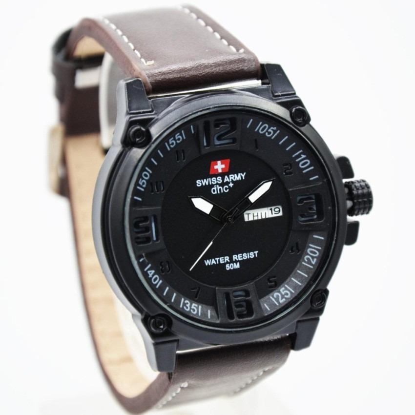Harga Jam Tangan Fashion Pria Swis Army Leather Brown Terbaru Qq200 Q Q Online