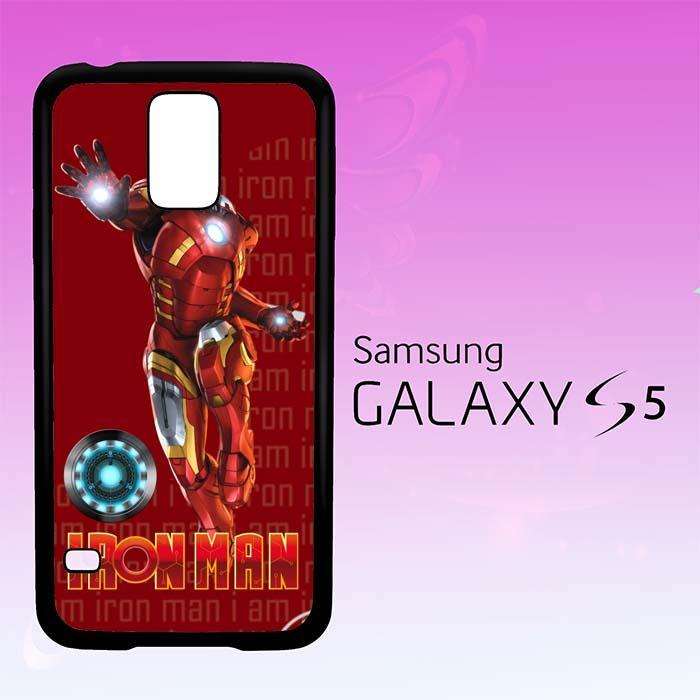 Casing Untuk Samsung Galaxy S5 Iron Man Fan Art X3627