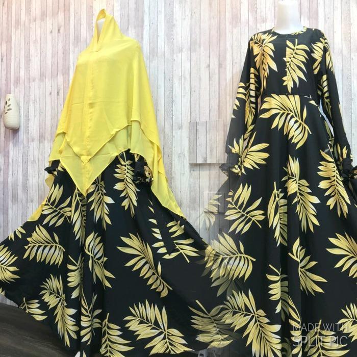 Harga Adzra Gamis Murah Syari Busana Muslim Wanita Domita Dress Hitam Yg Bagus