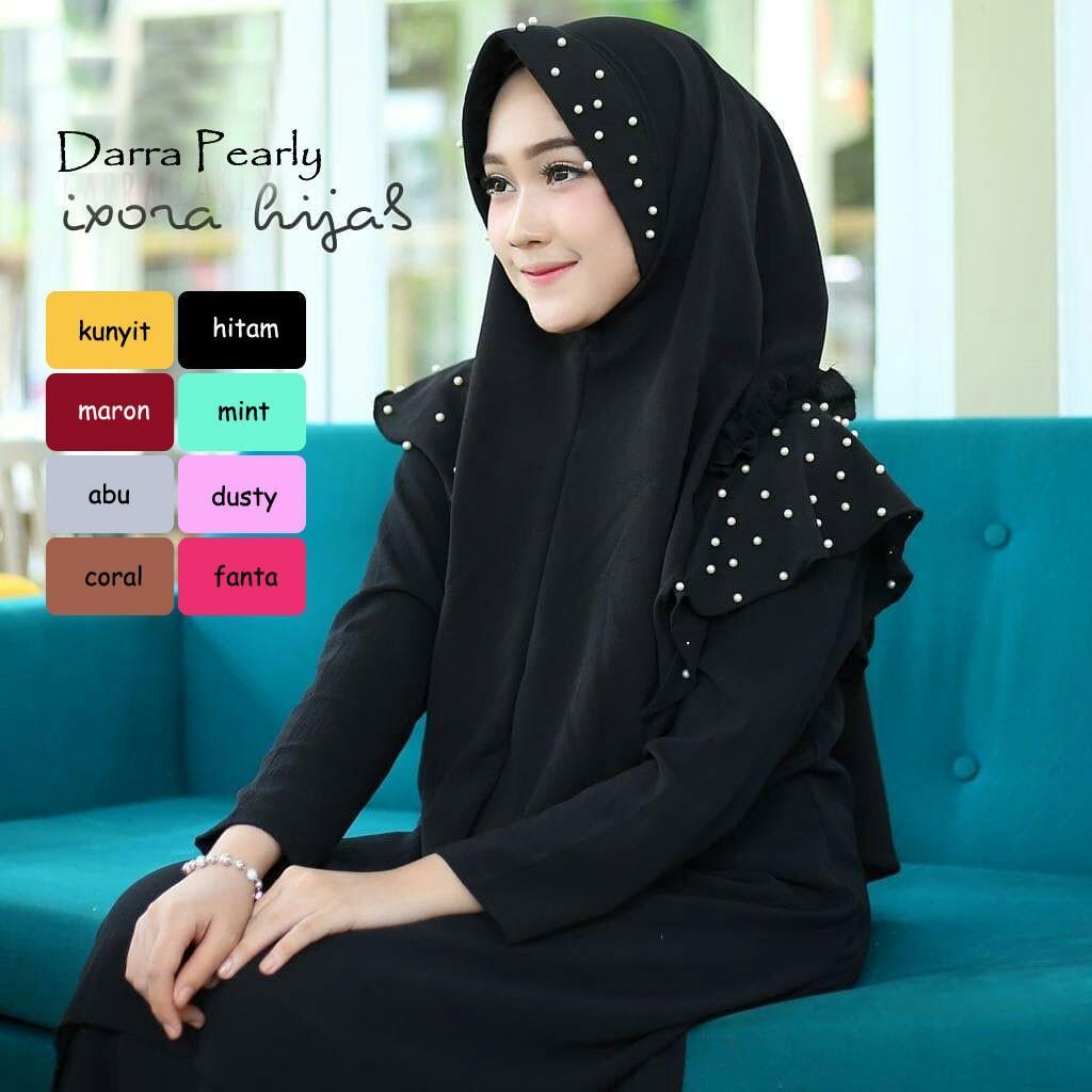 Cek Harga Baru Jilbab Instan Murah Marina Syari Pashmina Bergo Darra Pearly Vanilla Hijab