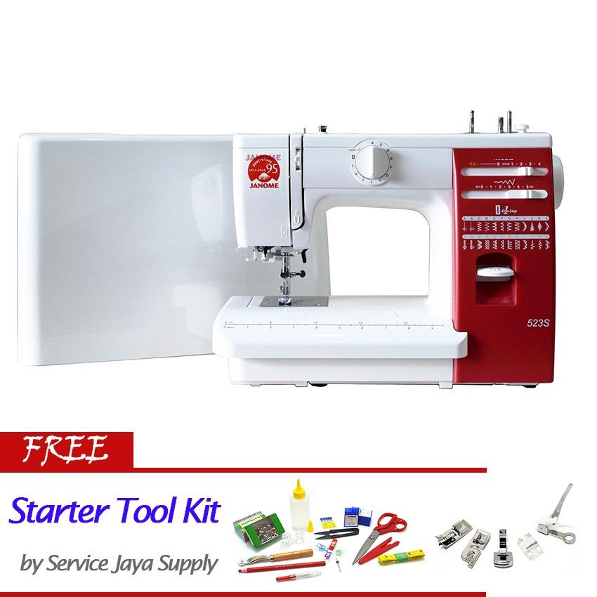 Jual Janome 523S Mesin Jahit Portable Body Full Besi Free Sjs Starter Kit Antik
