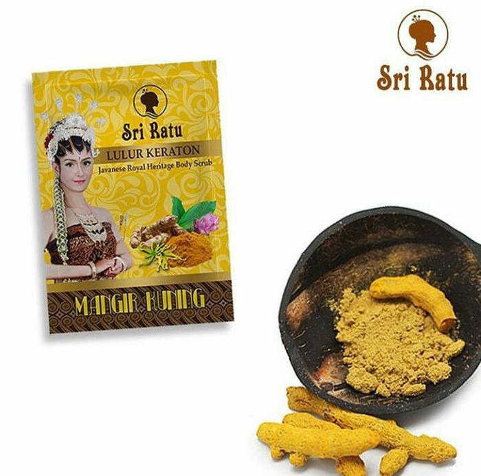 KF - Sri Ratu Lulur Keraton Mangir Kuning 25G Sachet azzr - Multicolor