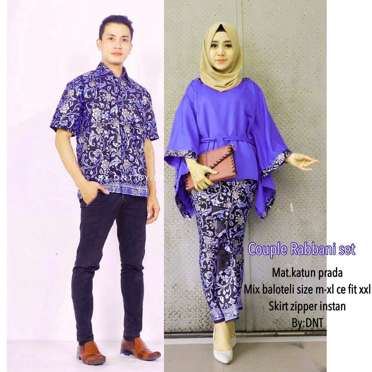 Batik Couple / Batik Sarimbit / Baju Kondangan Rabbani Set Couple