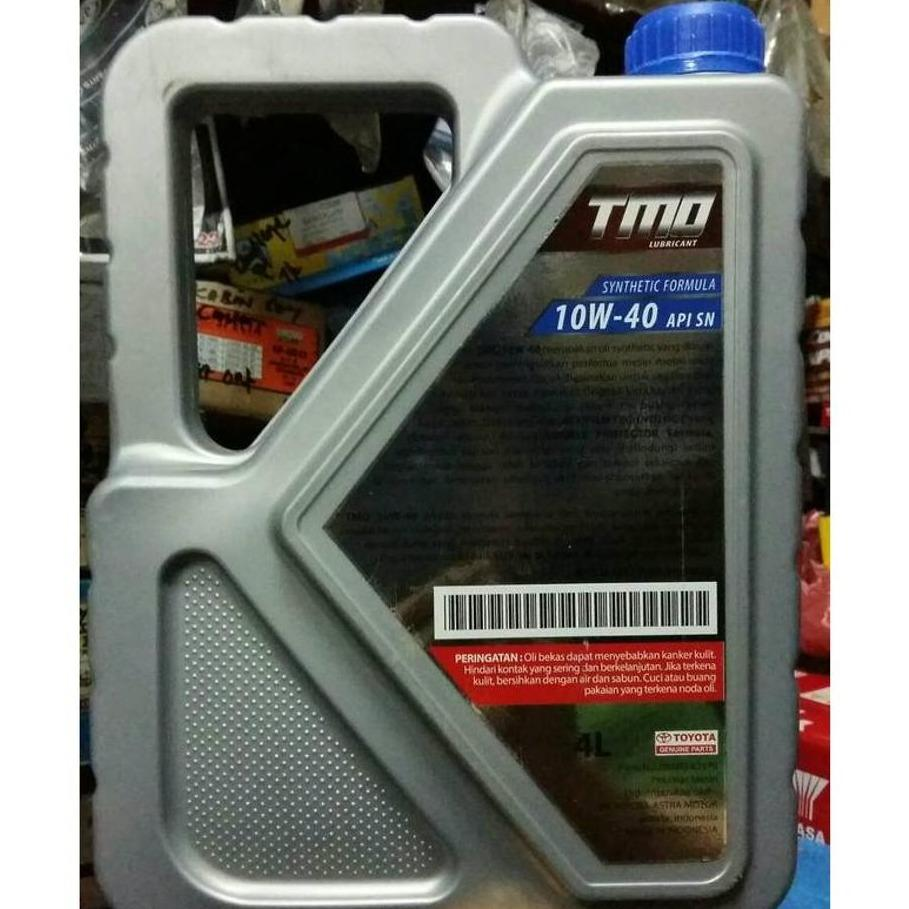 Toyota Motor Oil Synthetic Tmo 10w 40 Api Sn Oli Mobil Mesin Bensin Shell Helix Hx7 Cf 4 Liter Bandingkan Toko 1