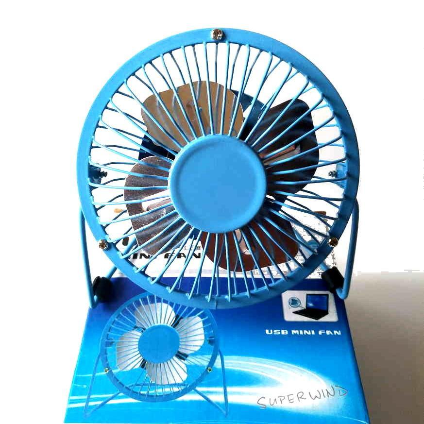 SANHUAI USB Mini Fan A18 - Kipas Angin Besi Portabel 5 Inch -