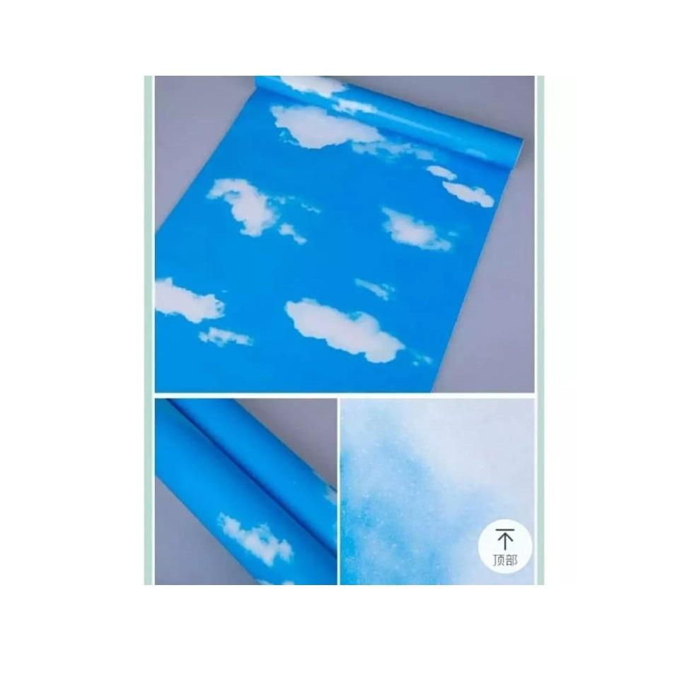 Stiker Wallpaper Dinding - Elegant Wallpaper Sticker (Size 45cm X 10M) - Awan