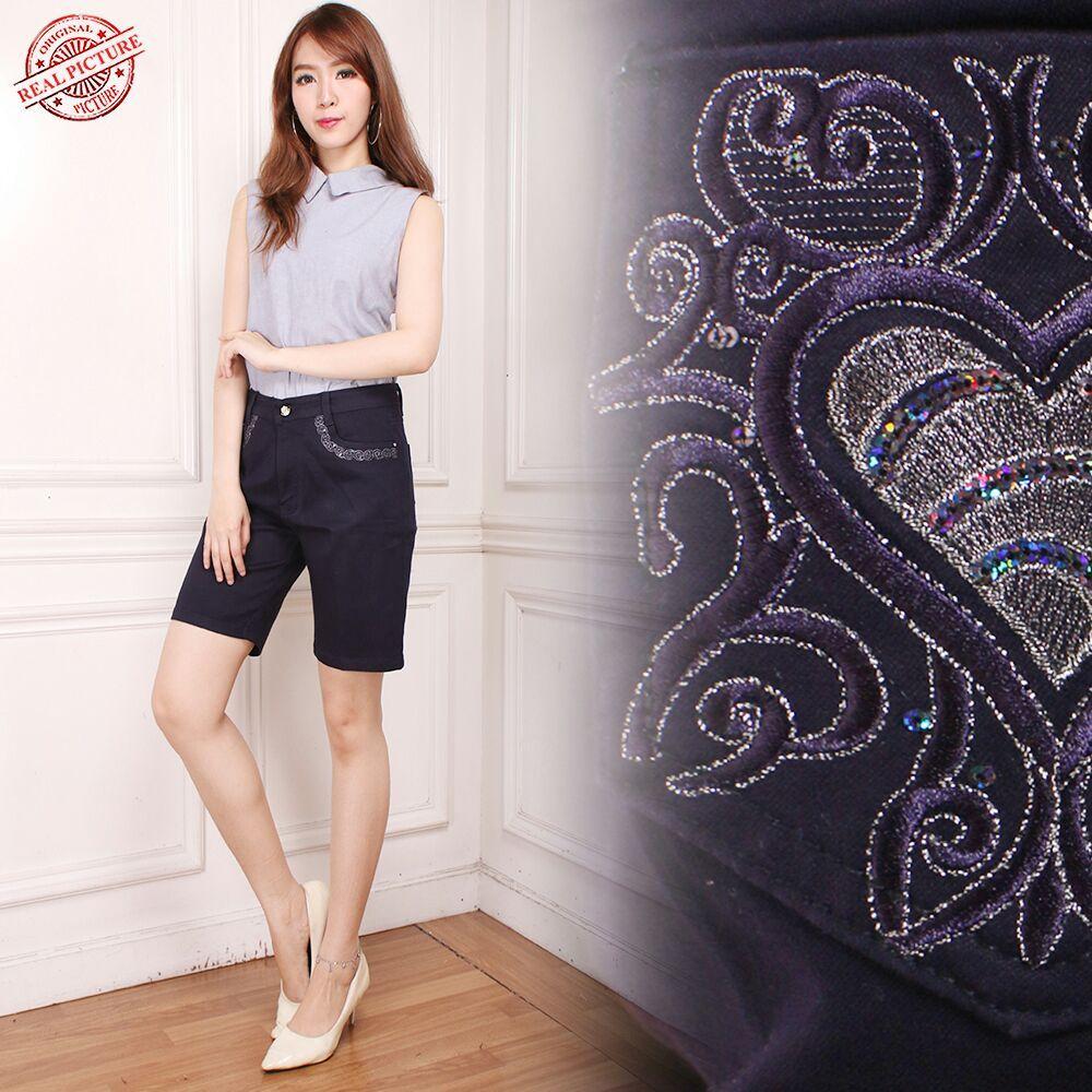 Cj collection Celana pendek jeans hotpant wanita jumbo short pant Riska M - XXXXL